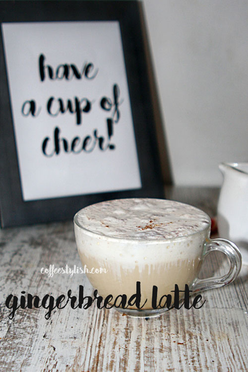 how to make a gingerbread latte at home