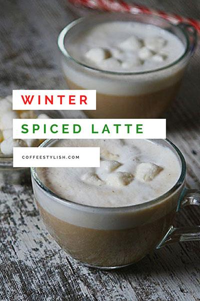 winter spiced latte