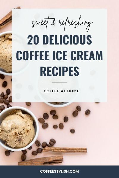 coffee ice cream recipes